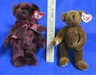 Ty Beanie Babies Plush Original Stuffed Animals Beargundy & Henry Style 6005