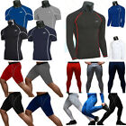 Mens Compression Thermal Tops Gym Sports Tights Fitness Base Layer Shirts Pants