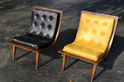 Vintage Mid Century Carter Brothers Bentwood Scoop Chairs