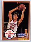 1990  TOM CHAMBERS - Kenner Starting Lineup Card - Phoenix Suns - (Blue)