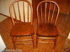 antique vintage set of 2 DINING ROOM CHAIRS wooden, bentwood