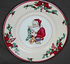 SANTA'S LIST PATTERN FITZ AND FLOYD (4) RIMED BOWLS GREAT CONDITION