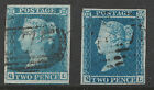 1841 9 2d Blue Matched Pair SpecES11 ES14q QL Plates3 4 Plate 4 on Thin Paper