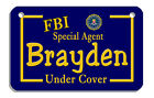 Custom Created Bicycle License Plate Personalize Design Your Own 45 x 275