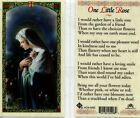 Rather Have One Little Rose From the Garden Laminated Prayer Holy Card HC9 020E
