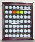 49 Golf Ball Display Case Rack Cabinet with Glass Door Solid Wood GB49 CHE