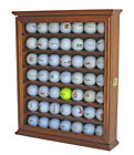 49 Golf Ball Display Case Rack Cabinet with Glass Door LOCKABLE GB49L WALN