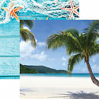 Reminisce PARADISE 12x12 Dbl Sided 2PCS Scrapbooking Paper BEACH PALM TREES