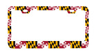 Maryland State Flag MD Univ of Maryland License Plate Frame 6x12 Made in USA