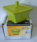 Belk Store Exclusive Fiesta Square Covered Box, Candy Dish Lemongrass New In Box