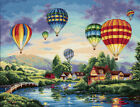 Gold Collection Balloon Glow Counted Cross Stitch Kit 16X12 18 Count