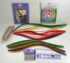 Quilling Kit with Paper Strips  Tools Comb Pen Circle Template Ruler