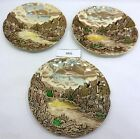 Lot 3 JOHNSON BROS Olde English Countryside Brown Bread Butter Plate 6.5