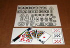RIVER BOAT GAMBLER Pinball Insert Decals LICENSED