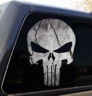 Punisher Skull Cracked Rock Stone Military Decal Sticker Graphic 5 Sizes
