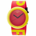 Swatch PNJ100 Unisex Red Dial Red & Yellow Silicone Strap Watch