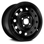 Saturn SL1 91 02 Replace 14 Remanufactured 12 Holes Black Factory Steel Wheel