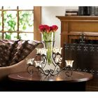 STUNNING SCROLLWORK CANDLE STAND WITH VASE