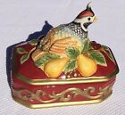 Fitz & Floyd Partridge in Pear Tree Cover Box ~ Excellent Condition ~