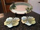 FITZ AND FLOYD CAPRESE MARKET - 2 CANAPE PLATES & BREAD TRAY SERVING PLATTER