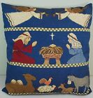 Christmas Holy Family Nativity Tapestry Pillow 14 x 17 Throw Decorative