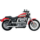 Supertrapp Chrome 3 Shield X Pipes by Paul Yaffe for 2004 13 Harley Sportster XL