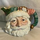 Fitz & Floyd Christmas Quilt Santa Claus Santa's Face Pitcher 1992 Retired
