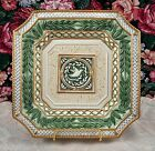 Canape Plate in Gregorian Collection by Fitz & Floyd, Dove, Green Leaves, Gold