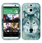 Snow Wolf Tuff For HTC One M8 Cover Case Snap on Protector