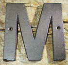 Cast Iron Industrial LETTER M Sign Rustic Brown 5 tall Alphabet