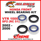 25-1654 Honda VTR 1000SP2 RC51 2002-2006 Front Wheel Bearing Kit