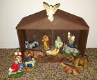 Vintage Nativity set Italy Christmas Creche Manger figurine LOT stable