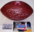 MIKE ALSTOTT BUCS SIGNED OFFICIAL NFL WILSON PINK RIBBON LEATHER FOOTBALL PSA