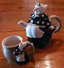 Baba Yaga Teapot & Mug Ceramic Fitz & Floyd Slavic Grandmother Witch Handpainted