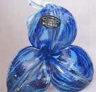 Hand Made Murano Glass ATLANTIC BLUE colored Flower twisted stem Italy new No15
