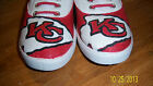 Hand Painted Bling Bling Kansas City NFL Tennis Shoes Sneakers