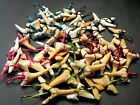 Colored Mix of Wire Wrapped Fossil Moroccan Shark Teeth tooth Necklace 25 pcs