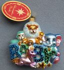 Christopher Radko Christmas Ornament Lullaby Baby, Zoo Animals #1018250 NEW