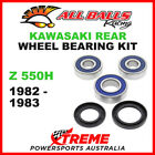 All Balls 25-1280 Kawasaki Z550H Z 550H 1982-1983 Rear Wheel Bearing Kit