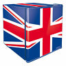 Husky HUS-EL193 Union Jack Flag 43 Litre Capacity Mini Fridge Refrigerator 165