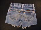 Wrangler Vintage CUTOFF JEAN SHORTS Cut Off W 20 MEASURED Hot Pants