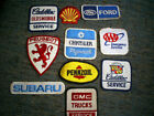 Lot of 10 Vintage Automobile Uniform Patches Gas Oil Ford Shell Cadillac Subaru