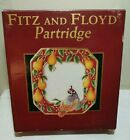 FITZ & FLOYD ESSENTIALS ENCHANTED HOLIDAY PARTRIDGE CANAPE PLATE  2063/175 NEW