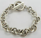 """BR-69 LADIES 925 TIFFANY &CO. 7"""" OPEN LINK BRACELET WITH A T-RING STYLE CLASP"""