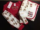 NWT Gymboree Unisex 3-6 Months 4 Pc Outfit Set w/ Joy Hope Love Blanket Christms