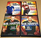 4 Bob Harper DVDs Workouts Ripped Core Cardio Body Pure Burn Super Strength