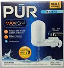 PUR Advanced Water Filtration System Vertical Faucet Filter Silver Chrome