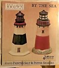 New SAKURA AT THE SEA 3D Lighthouse Salt & Pepper Shakers David Carter Brown