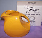 NEW IN BOX FIESTAWARE LARGE Disk PITCHER MARIGOLD FIESTA DISC 67 OZ RETIRED