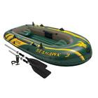 Intex Seahawk 3 Person Inflatable Boat Set with Aluminum Oars  Pump  68380EP